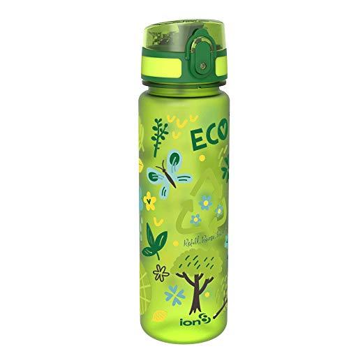 ion8 auslaufsichere Schlanke Wasserflasche/Trinkflasche, BPA-Frei, 500ml / 18oz, Öko