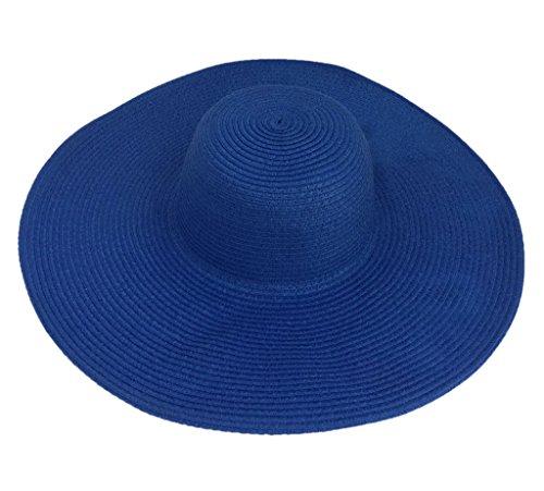 Bigood Chapeau de Plage Femme Large Bord Soleil Voyage Mode Style A