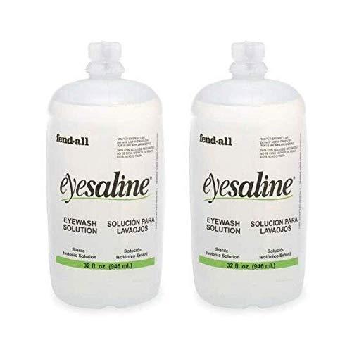 Fendall Eyesaline Eyewash Saline Solution Bottle Refill, 32 oz (2 Pack)