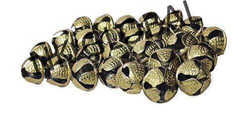 NK GLOBAL Tobillera tradicional de campanas indias de Ghungroo campanas sueltas de latón Kathak Ghungru accesorios de baile joyas regalos 20 piezas