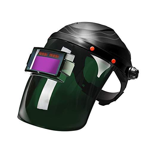 Jiamuxiangsi lasmasker elektrisch lasmasker solar automatische lichtwissel-hoofdbescherming anti-rooster voorzetlens eendelig opzetscherm kan worden omgedraaid