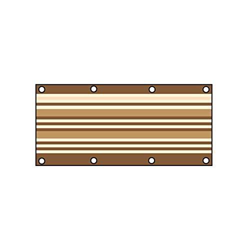 LPAYOK Parasol de tela de protección solar de malla resistente a los rayos UV, con 6 ojales y 4 correas, toldo de repuesto universal para plantas, pérgola, patio, patio, pantalla de privacidad