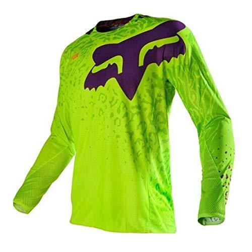 Camiseta de ciclismo para hombre, camisetas de ciclismo de manga larga, camiseta de descenso de secado rápido, camiseta transpirable para bicicleta de montaña, MTB, ropa para bicicleta de carreras
