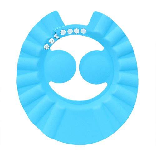Bain Lavage Cap Capuchon Protection Oreille Enfants Shampooing Cap Bonnets De Douche Bébé Bouclier De Douche Chapeau Coffre Souple Chapeau Réglable # 20, Bleu