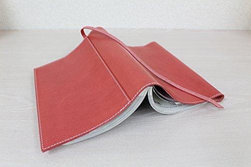 ブックカバー B6判単行本サイズ ソフトカバー 日本製 本革 イタリアンレザー ピッチーノ piccino A-97NL ピンク