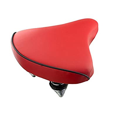 Fenix Cycles Beach Cruiser Vinyl Bike Saddle, (Red)