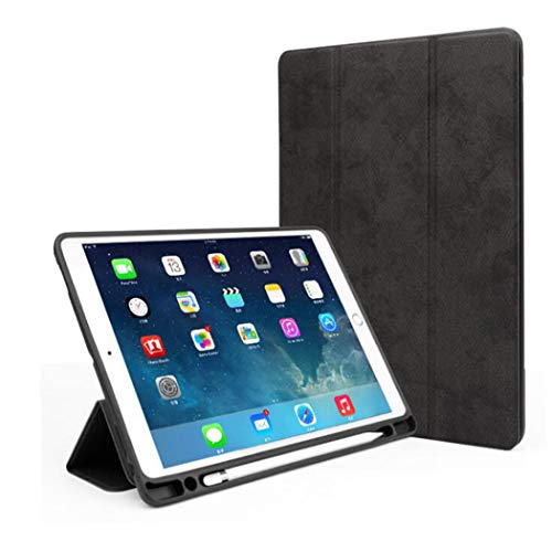 Voor Apple iPad mini 1/2/3/4/5 Case Ultradunne flip Shell Anti-vallen Shockproof Allround Cover Protection met Potlood Holder Stand Feature voor Apple Tablet beschermhoes,Black,iPad mini 1