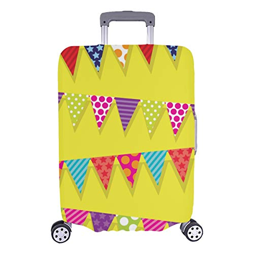 Baggage Protective Cover Popular Bunting Flags Decor Durable Washable Protecor Cover Fits 28.5 X 20.5 Inch Kids Luggage Cover Kid Luggage Cover Suitcase Cover Protectors