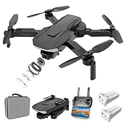 Eilsorrn Foldable RC Drone with 4K HD Camera for Adults Kids,FPV RC Quadcopter with Optical Flow Positioning,3D Flips,Trajectory Flight,Gesture Control,Headless Mode,APP Control[2 Battery Pack]-Black from Eilsorrn