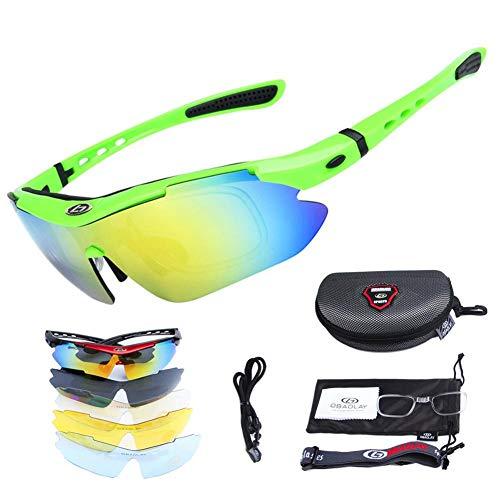 SH-Flying Gafas polarizadas, Lentes Anti-Ultravioleta con Vista Corta y Gafas de protección...