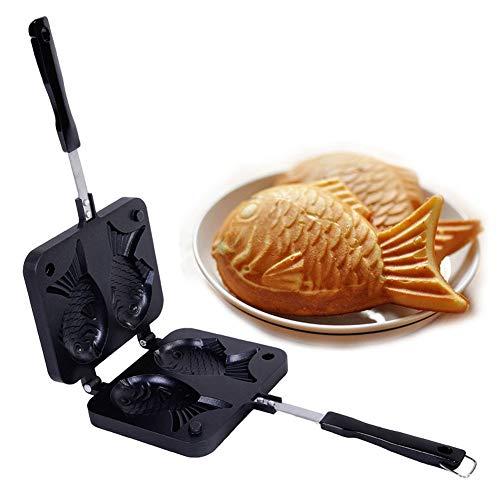 SQER Waffeleisen, japanischer fischförmiger Backofen Waffelpfannenhersteller, Antihaft-Backform aus Aluminiumlegierung Kuchenbackformen Kuchenhersteller