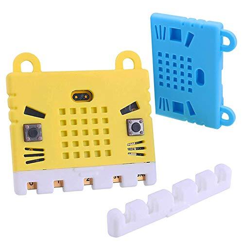 ZHITING Estuche Protector Micro: bit de 2 Piezas Estuche de Silicona no acrílico, Microfibra Suave y fácil de almacenar para BBC (Rojo y Naranja)
