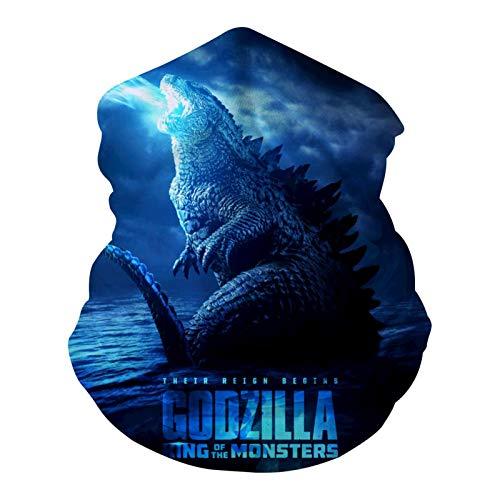 Godzilla-Poster Multifuncional Cuello Headwear Cara Bike Moto Senderismo Antipolvo Anti-Spray para Mujeres Hombres Cara Bufanda Bandana