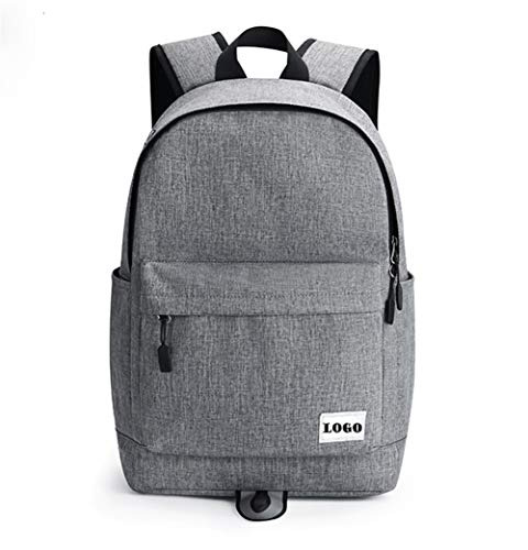 Leather College School Backpack Men's bag Multi-functional Casual Fashion, Large-capacity Travel Shopping fashion (Color : Dark gray, Size : S)