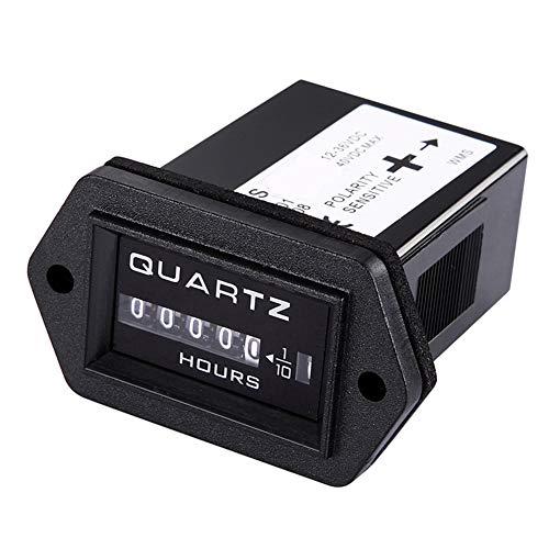 Qiorange Digital Betriebsstundenzähler Stundenzähler Zeitzähler Traktor Boot 12V-36V DC