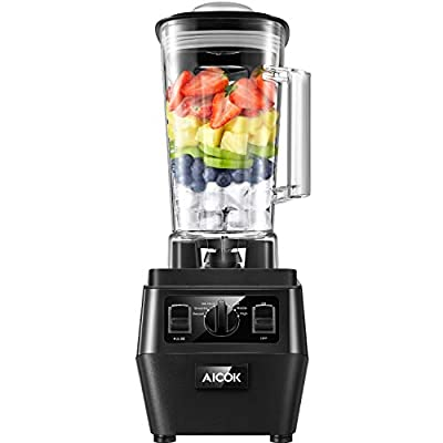 Aicok Professioinal Blender, Countertop Blender with 1400W,72oz Dishwasher BPA Free Tritan Pitcher, Durable Smoothie Blender for Shakes,Ice Crushing, Frozen Drinks, Soup Maker