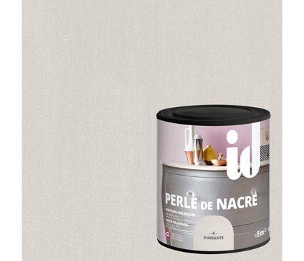 Pintura nacarada brillante, semitransparente de alta decoración lavable para muebles. - 500 ml - (Diamante)