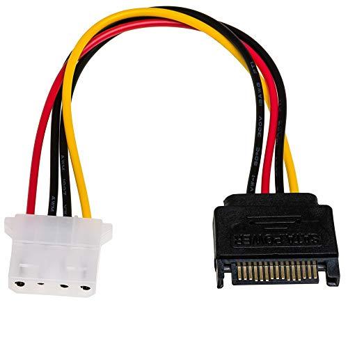 AKYGA AK-CA-11 SATA Stecker auf Molex 4 pin Buchse Adapter Kabel 15cm