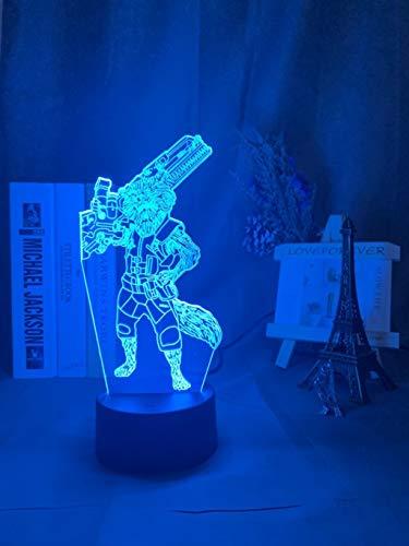 3D Illusion Nachtlampe Wächter der Galaxie Rakete Waschbär Figur Nachtlicht für Kinder Schlafzimmer Dekor Led Nachtlicht
