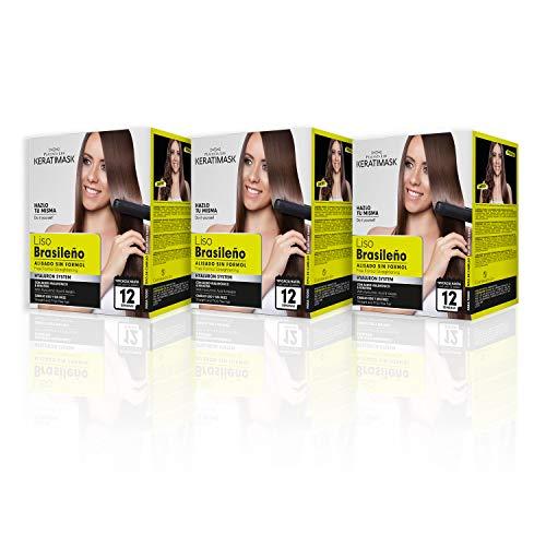 Be Natural Be Natural, brasilianisches Glättungs-Set, Keratimask, professionelles Ergebnis für lange Haltbarkeit. Packung mit 3 Sets 3 Stück 380 g
