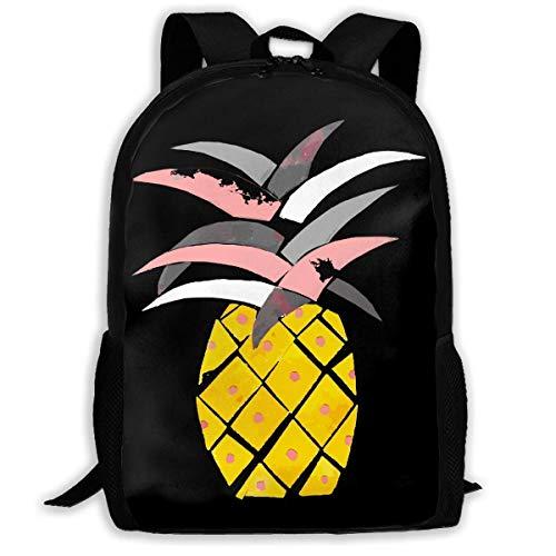 ADGBag Watercolor Pineapple Fashion Outdoor Shoulders Bag Durable Travel Camping for Kids Backpacks Shoulder Bag Book Scholl Travel Backpack Sac à Dos pour Enfants