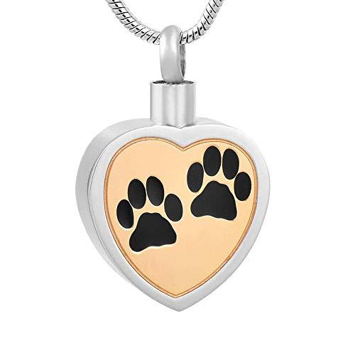 ketting gratis plastic trechter!roestvrij staal altijd in mijn hart huisdier hond/poot crematie Urn as Memorial Jewelry-3,kleur naam:4