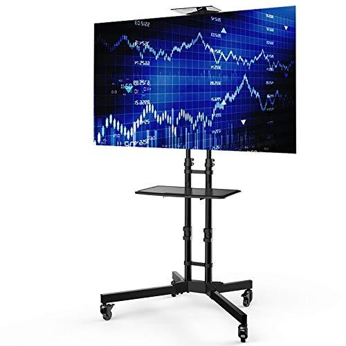 Loctek 32~65インチ液晶テレビ対応 高さ調整 キャスター付き 棚板付き 移動式 壁寄せ大型テレビスタンド P3B