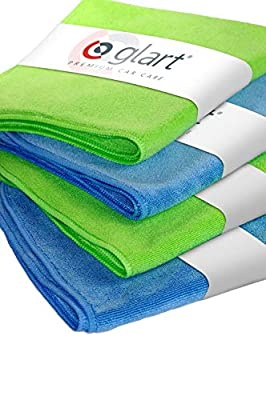 Glart 4 Super Soft Microfibre Cloths 40 x 40 cm, for Car Cleaning, Detailing and Drying by GLART