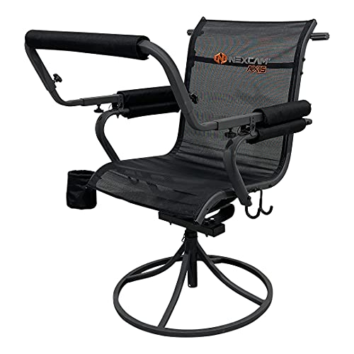 NEXCAM AXIS SC 360 Shooting Chair. First of its Kind Dual-axis Swivel and Tilting Shooting Chair with Rail. Patent Pending