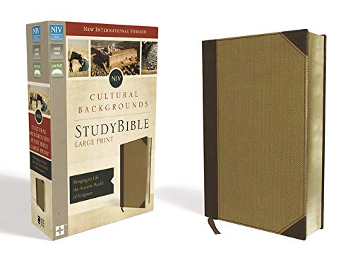 NIV, Cultural Backgrounds Study Bible, Large Print, Leathersoft, Tan, Red Letter Edition: Bringing to Life the Ancient World of Scripture
