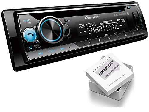 Pioneer DEH-S510BT 1-DIN autoradio CD-tuner USB AUX geschikt voor Renault Megane 2 MB/cm/KM/LM/EM 2003-2009 zwart