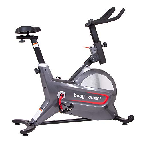 Body Power Deluxe Indoor Cycle Trainer with Curve-Crank Technology