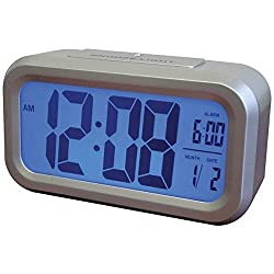 Westclox 5.25 in. L x 3 in. H Silver LCD Alarm Clock Batteries Required