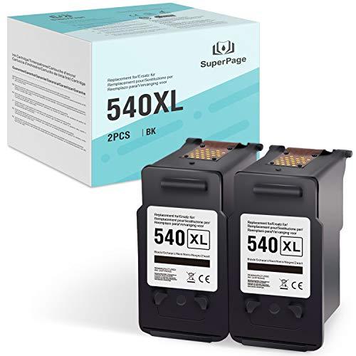 Superpage 540XL - Cartuchos de tinta remanufacturados para Canon Pixma MG2150, MG2250, MG3150, MG3250, MG3550, MG4150, MG4250, MX375, MX395, MX435, MX455, MX515 525,2 negro.