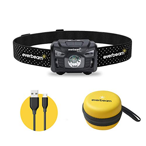Everbeam H6 Pro LED Head Torch Headlamp, Motion Sensor Control, 650 Lumen...