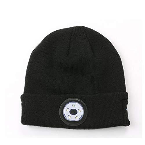 ZHANGYAN sombrero para el sol Tapas de iluminación LED de Bluetooth para hombres y mujeres, altavoces estéreo incorporados y micrófonos, tapas de música de linterna, deportes de invierno tapa de punto