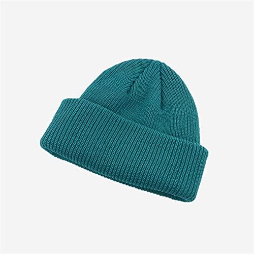 H/A MEIMEIGUO Sombrero de otoño e Invierno Sombreros de Punto Marea Coreana Sombreros de Lana otoño Coreano MEIMEIGUO (Color : Lake Blue, tamaño : Talla única)