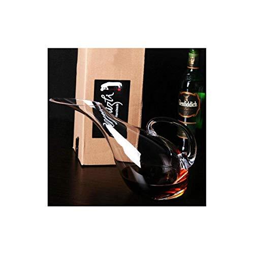 Decantador de vino de cristal hecho a mano, decantador de vino tinto de cristal, botella de vino creativo con tapa, dispensador de botellas, Decantador de hogares A1 Accesorios de vino (Color: A1)