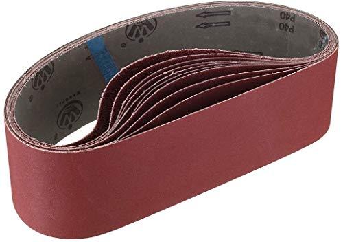 Schleifbänder, 100mm x 915mm 80/120/150/240/400 Dick / Fein-Schleifbänder für Bandschleifer (10 Stück)