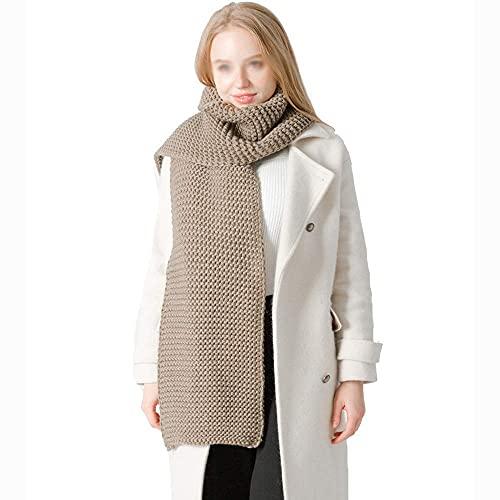 COLiJOL Bufanda Gruesa para Mujer Bufanda de Invierno Pañuelo Largo Y Grueso Ideal para Mantener Calientes Los Regalos Femeninos (Color: Caqui, Tamaño: 192X70Cm),Caqui,el 192X70Cm