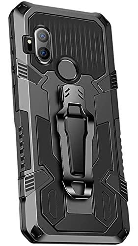 Capa Capinha Anti Impacto Armor Premium Com Clip Cinto de Cintura Preto Moto One Hyper - (C7COMPANY)
