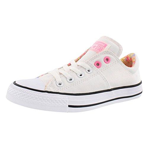 Converse Damen Chuck Taylor All Star Madison Ox Sneaker White/Pink Glow - verschiedene Größen, Weiß - Weiß Pink Glow - Größe: 37.5 EU