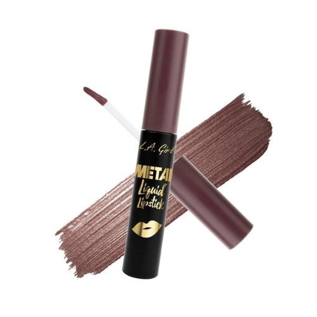 発明陸軍ファイター(3 Pack) L.A. GIRL Metal Liquid Lipstick - Galvanize (並行輸入品)