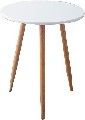 XZGang 小さな丸いテーブル、ベッドルームバルコニー小さなコーヒーテーブルティールームコーヒーショップダイニングテーブルイミテーションウッド交渉のテーブル シンプルな人生を創造する (Color : A, Size : 70*70CM)