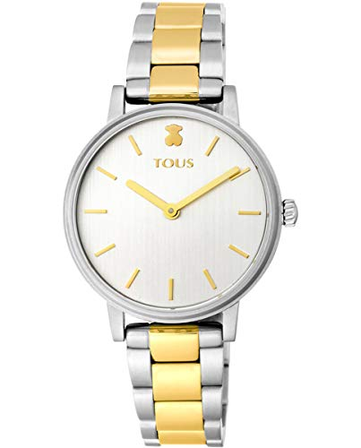 TOUS Reloj Mujer Rond Straight SS/IPG ESF Silver BRAZALET- Ref 100350475