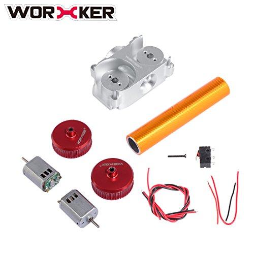 FOKOM WORKER Mod Kit: Flywheel + Flywheel Cage + Motor + Tude Accessori per Nerf Stryfe/Nerf CS-18 N-Strike Elite Rapidstrike