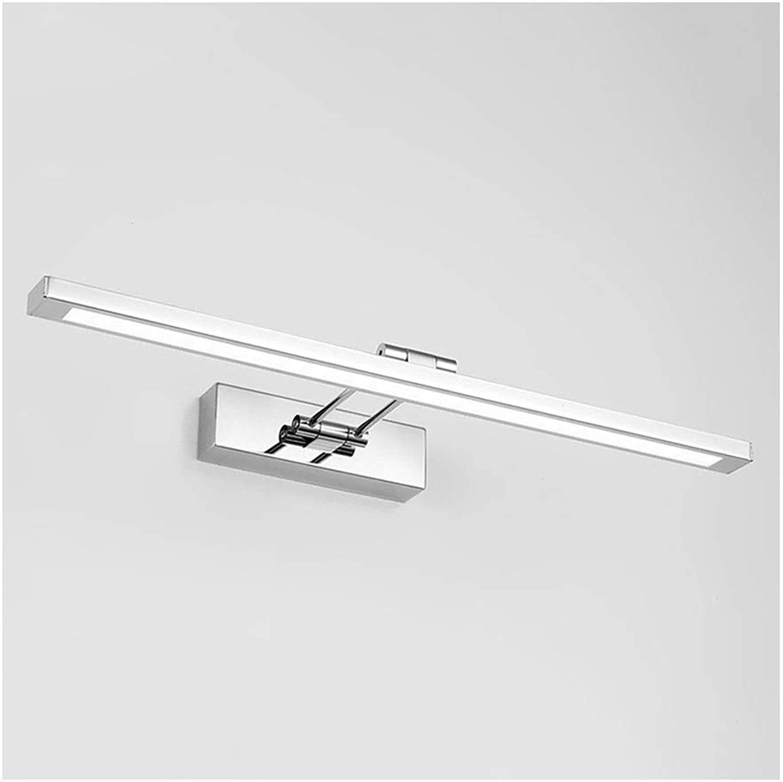 William 337 Edelstahl LED Spiegel Scheinwerfer Badezimmer Wandleuchte Spiegel Schrank Licht Schlafzimmer Make-Up Lampe [Energieklasse A +] (Farbe   Weies Licht-41cm)