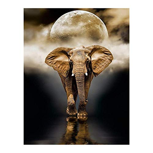 Puzzle 4000 Piezas,Puzzles para Adultos Puzzle Educa Rompecabezas Adultos,Luna y elefante Juegos Puzzles Se Aplica A Adultos/Infantiles/Regalo NiñO Puzzle Infantiles 3+ AñOs-55.70x34.44 pulgadas (14