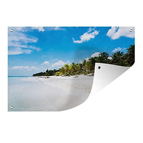 Gartenposter - Strand Tulum Mexiko Foto - 90x60 cm