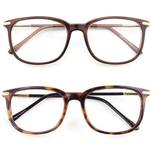 CGID CN79 Retro Anteojos Lente Claro Gafas Para Mujer y Hombre